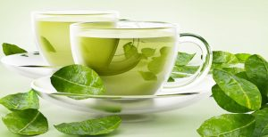 Green Tea Oils with green leaves